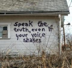 Even if your voice shakes...