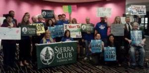 Sierra Club at EPA hearing
